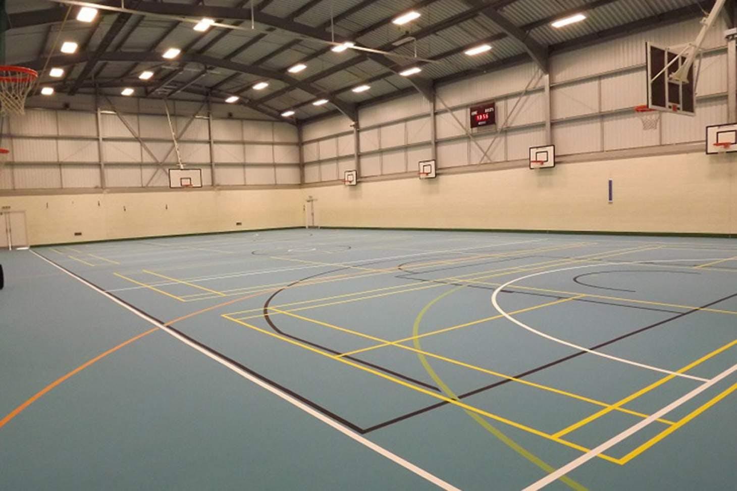 Dr Challoner's High School Indoor   Hard badminton court