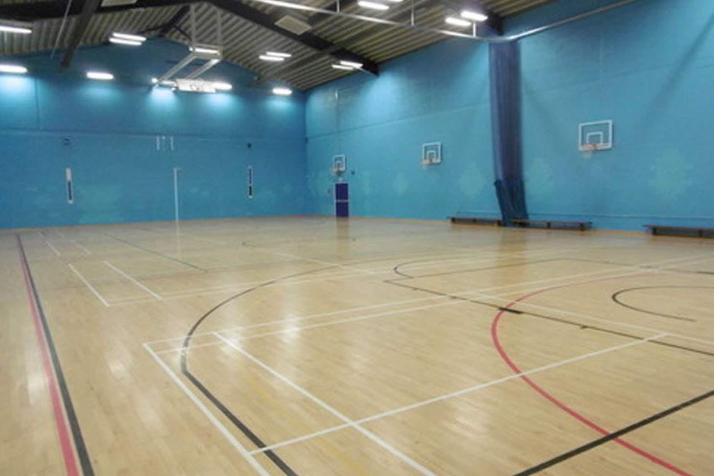 St Albans Girls' School Indoor | Hard badminton court
