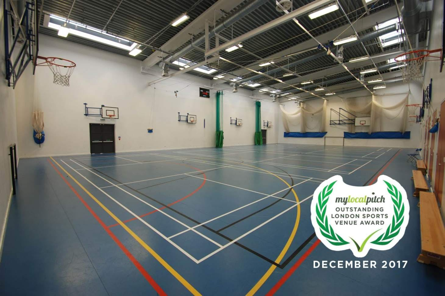 Castle Green Leisure Centre Indoor | Hard badminton court