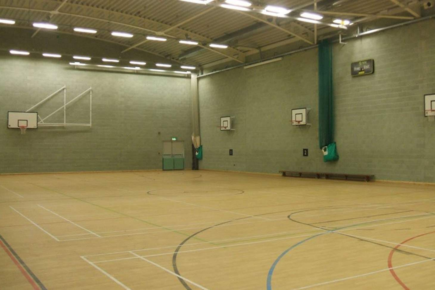 Longhill Sports Centre Indoor | Hard badminton court