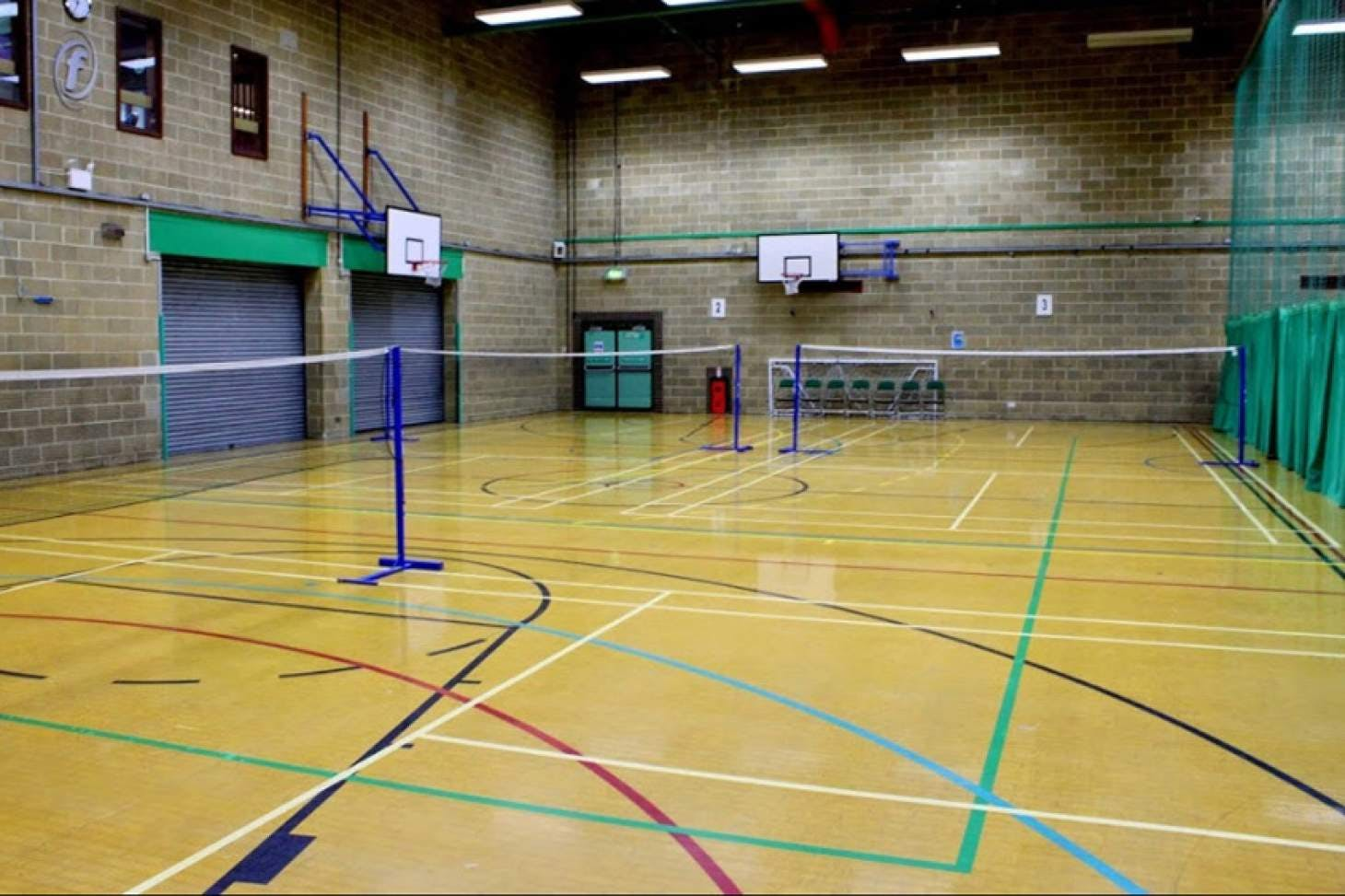 Moulsecoomb Community Leisure Centre Indoor netball court