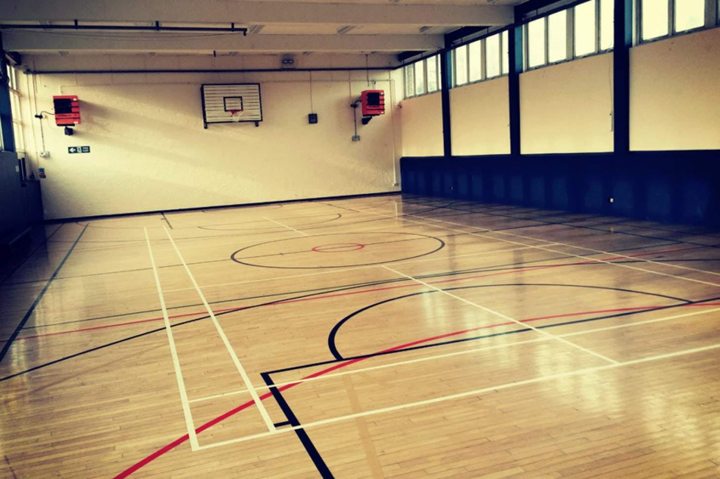 The Manor Road Gym Indoor netball court