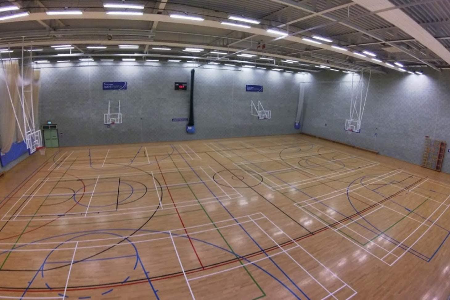 University Of Brighton (Falmer Campus) Indoor netball court