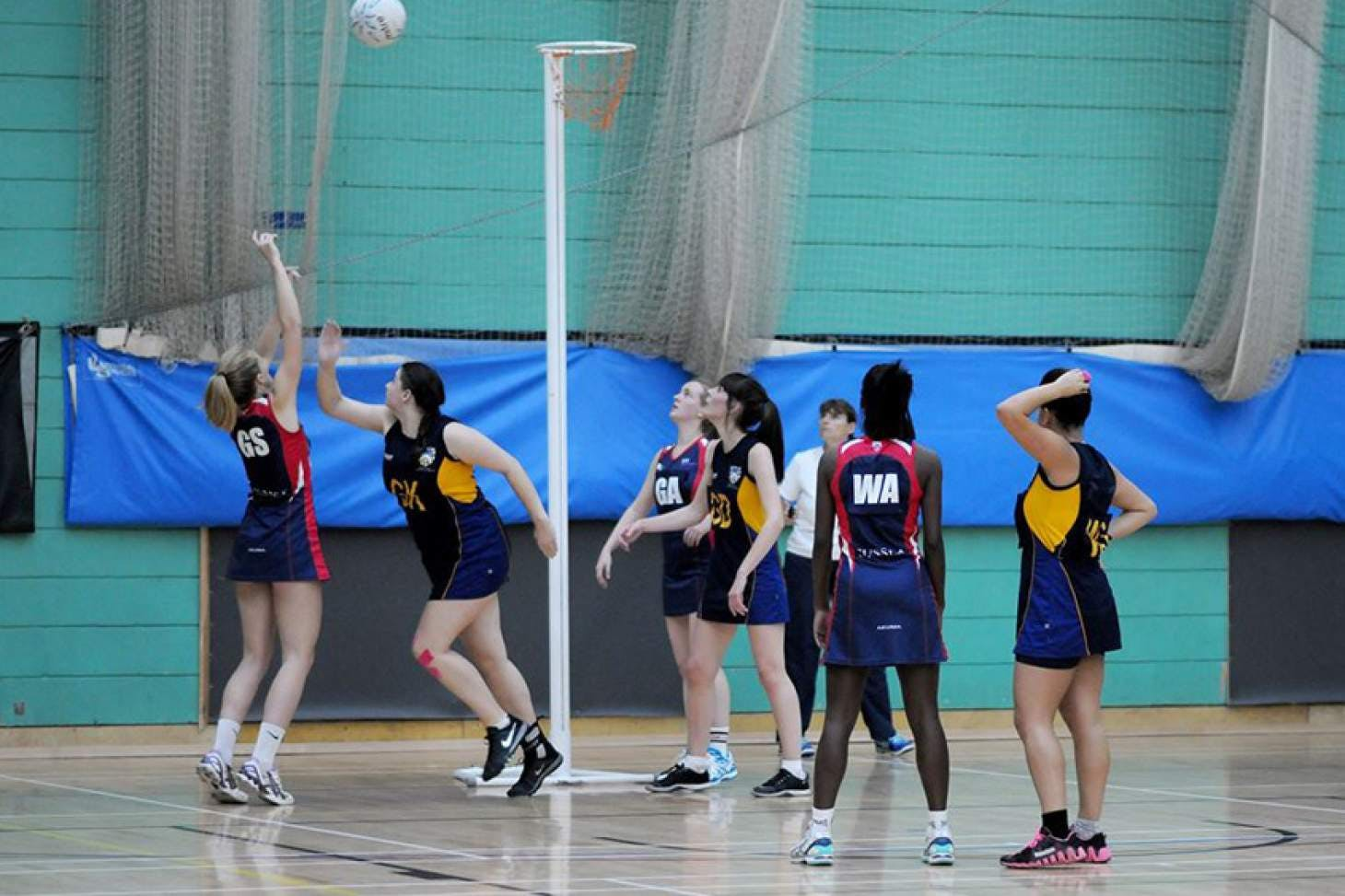 University Of Sussex Sport Centre Indoor netball court