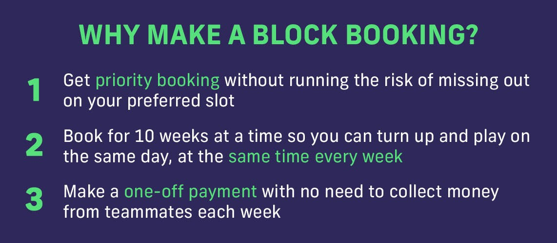 Why make a block booking?