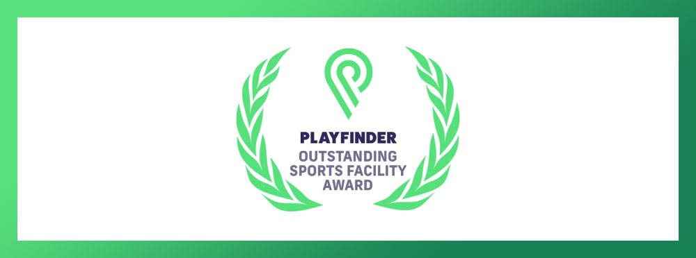Playfinder Outstanding Sports Facility Award Logo
