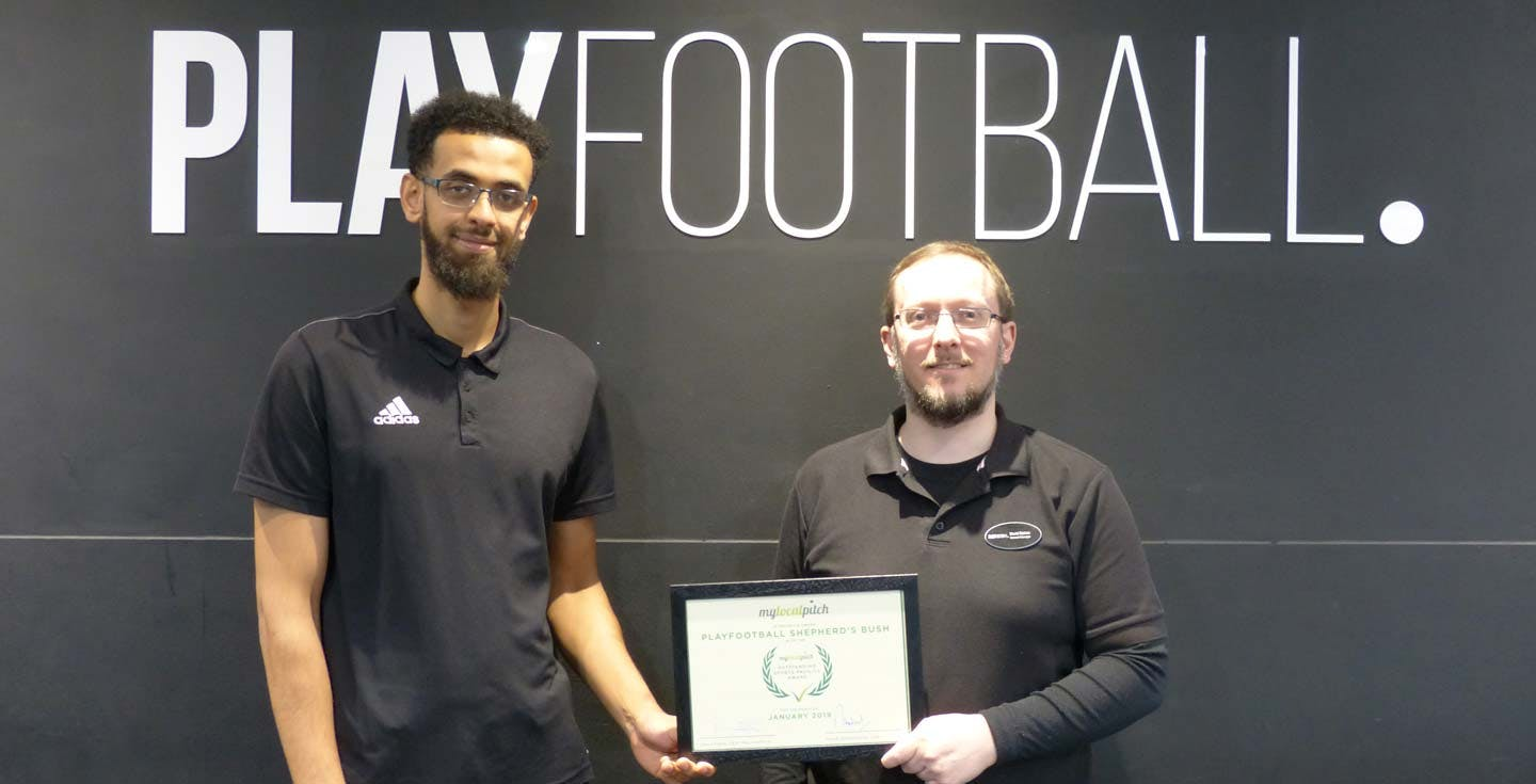 Playfinder Outstanding Sports Facility Award - PlayFootball Shepherd's Bush