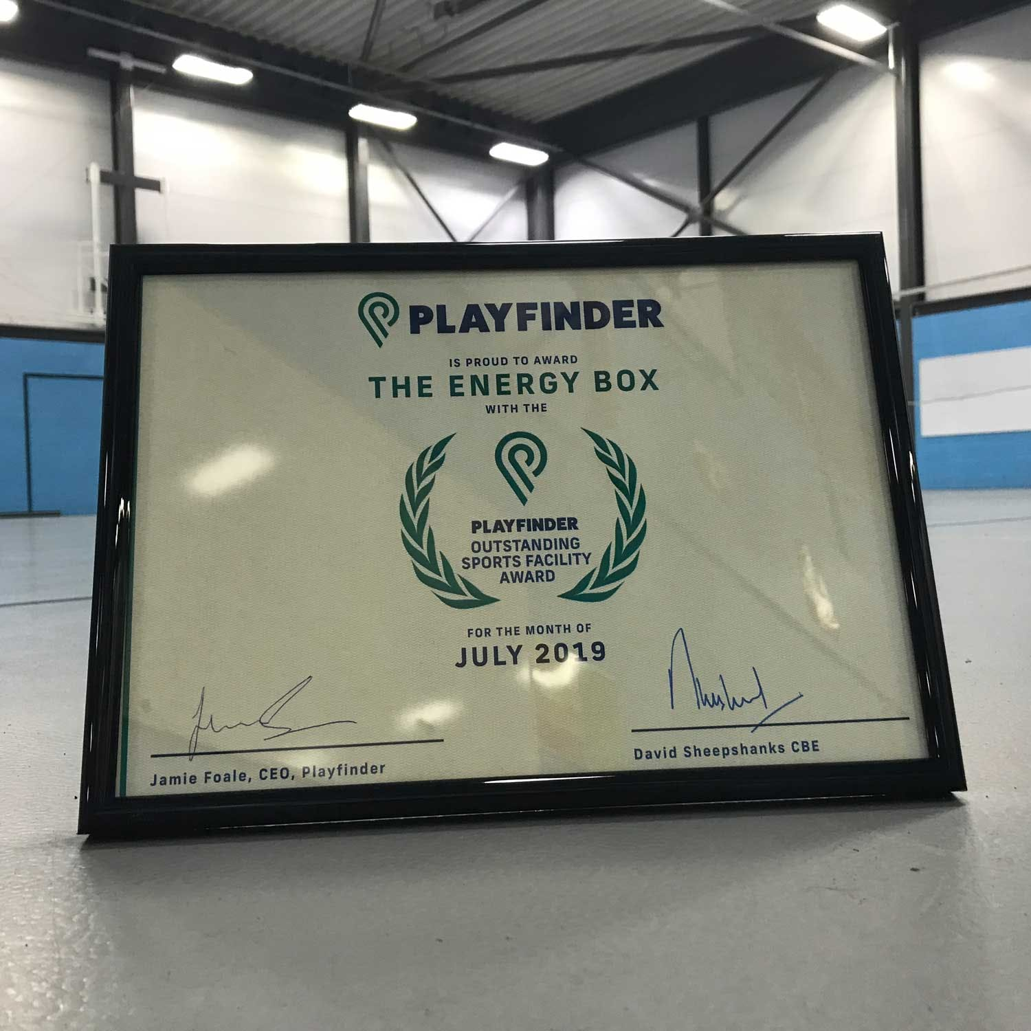 Playfinder Venue Award for The Energy Box