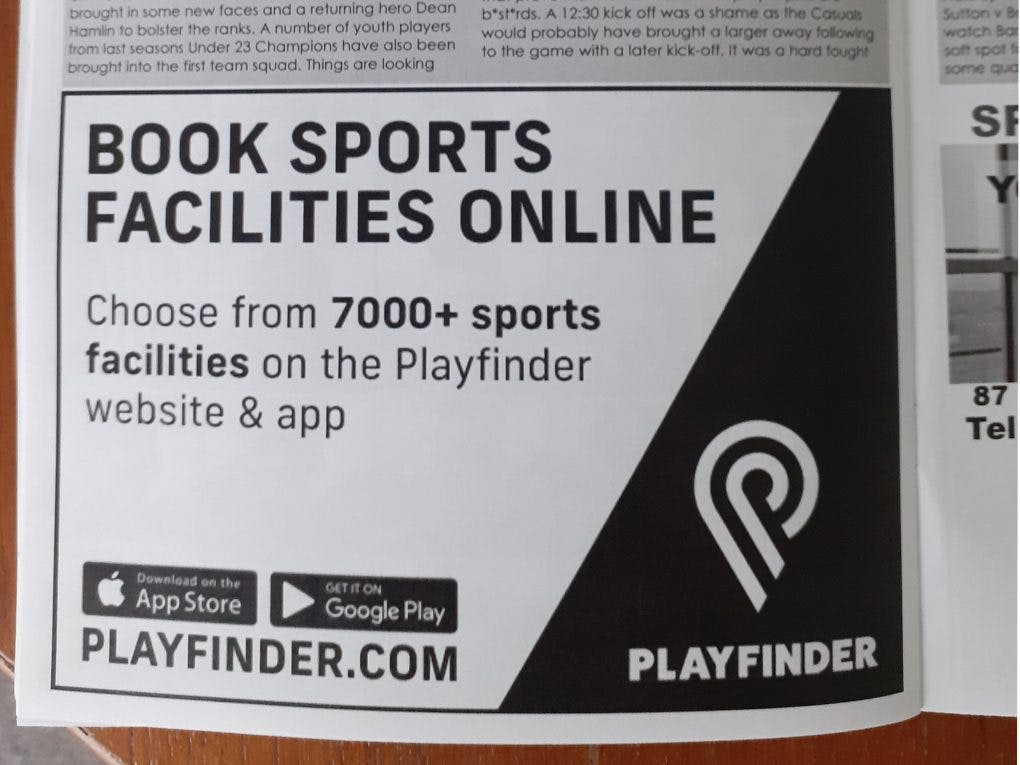 Playfinder programme T&M