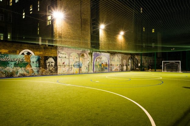 Where to play football in London
