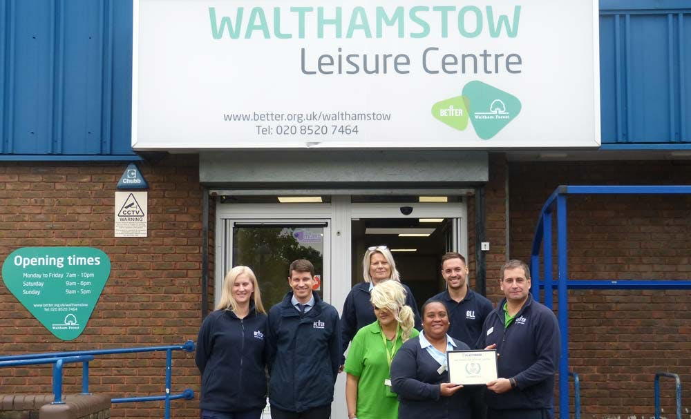 Walthamstow Leisure Centre Award Presentation